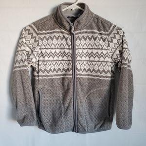 UNIQLO fleece front zipper jacket Boy size 7-8